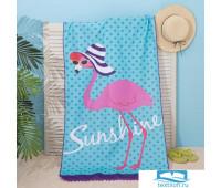 Полотенце пляжное Этель 'Фламинго', 75*140 см, микрофибра