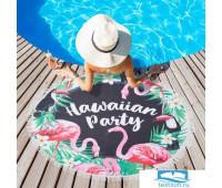 Полотенце пляжное Этель 'Гавайская вечеринка', d 150 см