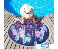 Полотенце пляжное Этель 'Фантазия', d 150 см, микрофибра