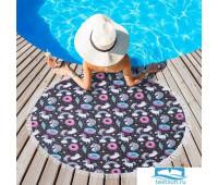 Полотенце пляжное Этель 'Радужные сны', d 150 см, микрофибра