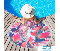 Полотенце пляжное Этель 'Тропики', d 150 см, микрофибра