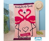 Полотенце пляжное Этель 'Фламинго' 70*150 см