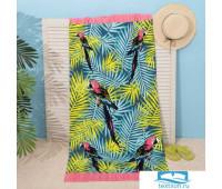 Полотенце пляжное Этель 'Тропики' 70*150 см