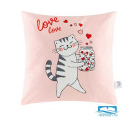 Чехол на подушку Этель 'Cats love' 40х40 см, 100% п/э