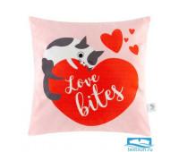 Чехол на подушку Этель 'Love bites' 40х40 см, 100% п/э