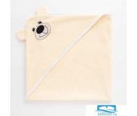 Полотенце-уголок махровый Крошка Я «Медвежонок» 85х85 см
