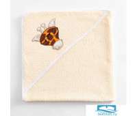 Полотенце-уголок махровый Крошка Я «Жирафик» 85х85 см