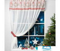 Тюль с подхватом и ламбрекеном 'Новогоднее настроение'