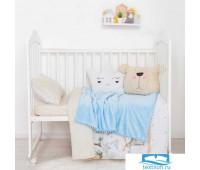 Плед двухслойный 'Крошка Я' Milk&Cookie, 85х100 см,велсофт