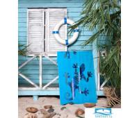 ЯЩЕРКА полотенце пляжное 75*150 цв. голубой