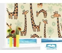 Рулонная штора 'Чудесные жирафики' Ширина: 60 см. Высота: 175 см. управление справа