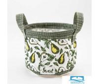 Текстильная корзинка Этель 'Груши' 12 х14 см   5383578