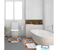 Набор ковриков для ванной Этель 'Ботичелли' 2 шт, 80х50 см