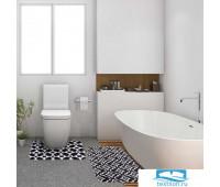 Набор ковриков для ванной Этель 'Узор' 2 шт, 80х50 см, 50х40 см