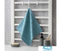 Полотенце махровое Крошка Я 'Полоса' 34*34 см, цв.синий