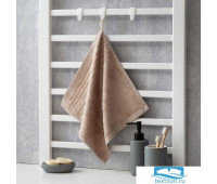 Полотенце махровое Крошка Я 'Simple' 34*34 см, цв.коричневый