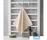 Полотенце махровое Крошка Я 'Simple' 34*34 см, цв.молочный