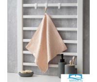 Полотенце махровое Крошка Я 'Simple' 34*34 см, цв.розовый