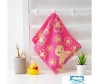 Полотенце махровое Крошка Я 'Птенчик' 25*50 см, цв.розовый