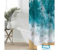 Штора для ванной Этель 'Waves' 145 х 180 см, полиэстер 5494674