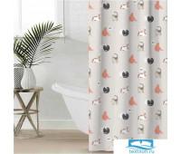 Штора для ванной Этель 'Котики' 145 х 180 см, полиэстер 5494675