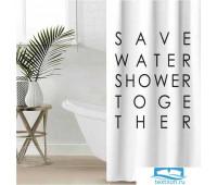 Штора для ванной Этель 'Save water' 145 х 180 см