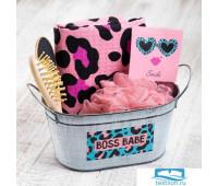 Набор подарочный 'Leopard' с полотенцем (5 предметов) 5698740