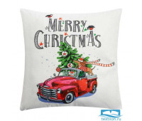 Чехол на подушку Этель «Счастливого Рождества!» 40 х 40 см