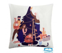 Чехол на подушку Этель «Семейный праздник» 40 х 40 см, 100% п/э