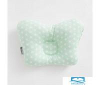 Подушка анатомическая Крошка Я «Зеленые звездочки», 26х22 см