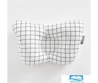 Подушка анатомическая 'Крошка Я ' Серая клетка, 26х22 см