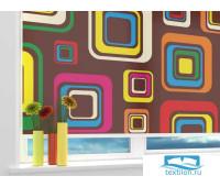 Рулонная штора 'Цветные квадраты' Ширина: 60 см. Высота: 190 см. управление справа