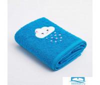 Полотенце Экономь и Я «Облачко девочка» 50*90 см, цв.голубой