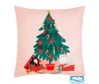 Чехол на подушку Этель «Новогодняя елочка» 40х40 см, 100% п/э