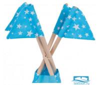Набор флажков для Вигвама 'Звезды' голубой 16смх18см - 4 шт