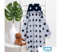 Полотенце-уголок махровый Крошка Я «Звездочки» 85*85 см