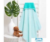 Полотенце-уголок махровый Крошка Я «Крапинка» 85*85 см