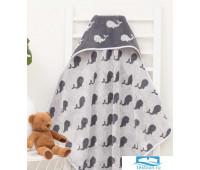 Полотенце-уголок махровый Крошка Я «Зоопарк» 85*85 см