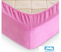 Р015Рроз Розовый прост МАХРОВАЯ 200х200х30 трикотажная на рез