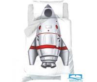 Постельное белье Этель 1,5 сп «Ракета» 143х215 см, 150х214 см