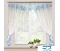 Комплект штор для кухни Акцент голубой