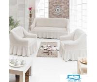 7565 Чехол д/мягкой мебели 3-х пр.(3+1+1) JUANNA натуральный (№