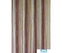 Нитевой занавес 'Многоцветье с люрексом' 300*285, C8/13/14 коричневый+ваниль+бежевый