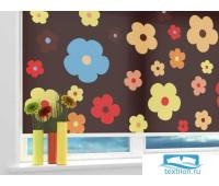 Рулонная штора ''Россыпь цветов'' Ширина: 60 см. Высота: 190