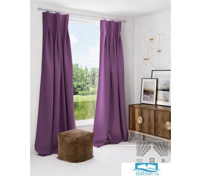 Комплект штор Грейси (фиолет) Портьера 150х260 см. — 2 шт.