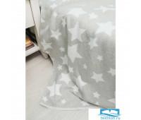 Одеяло детское 'Звезды', серый
