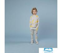Бананово-серый Свитер и штаны Дети 104