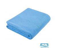 Простыня  махровая цвет: голубой 180х200