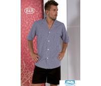 Хлопковая мужская пижама с шортами B&B B&B_U423 Черный 54