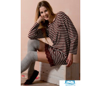 Стильное домашнее платье в полоску Rebecca & Bross. R&B_3231